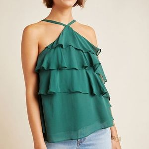 Anthropologie Salsa Ruffled Cami Top Size 4